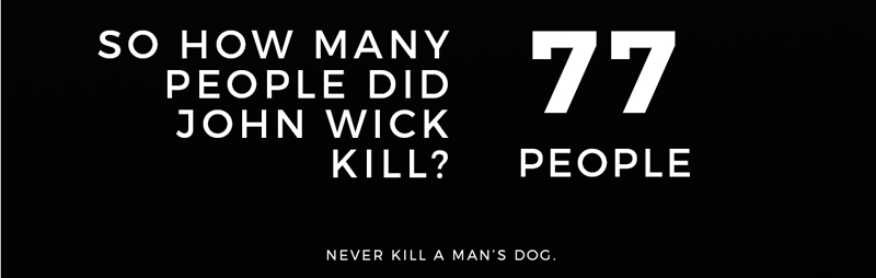 John Wick kill count graphic